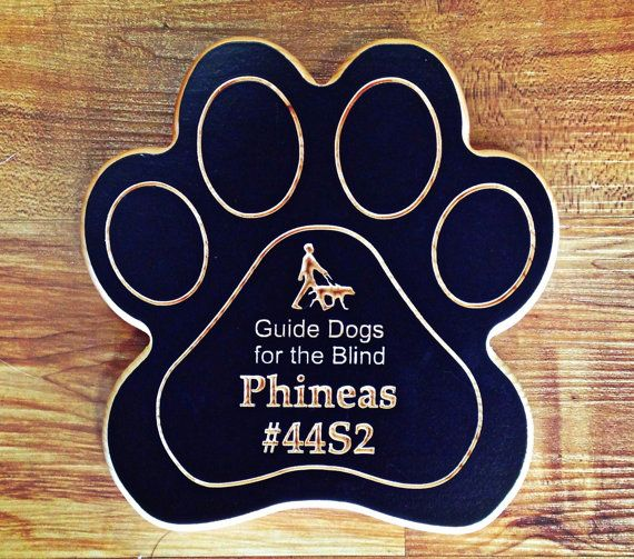 Puppy Raiser Dog Paw Keepsake - Guide Dogs For The Blind - Wooden Dog Sign - Dog Paw Wall Art
