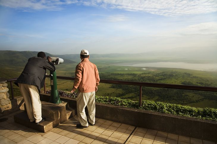 Crater rim - Tanzania by Kjetil Hasselgård