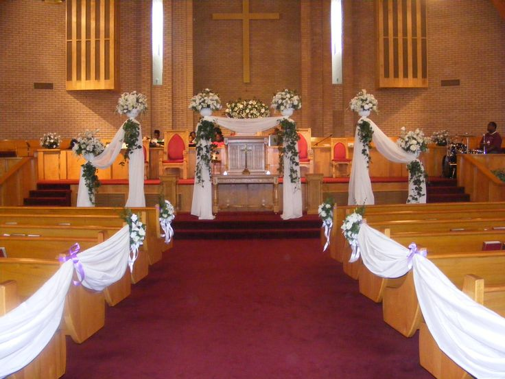 Simple Ceremony Decorations: 17 Best Images About Church Decorations On Pinterest