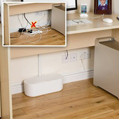 D-Line Large Cable Tidy Unit - White