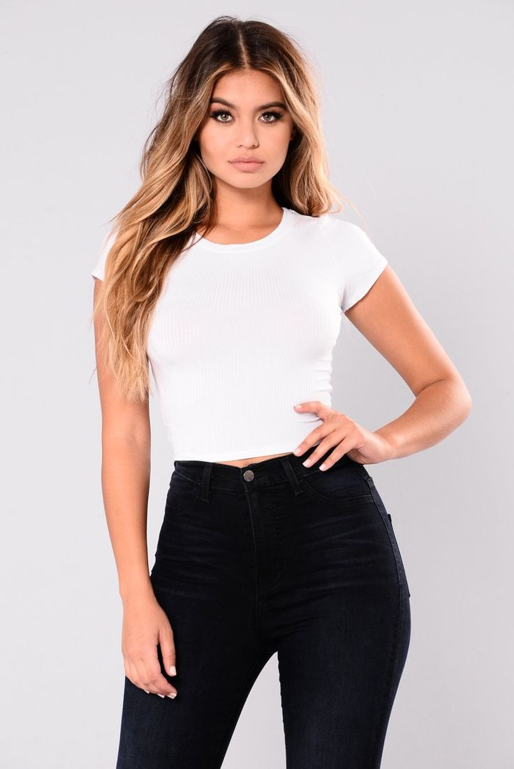 Nordstrom BP Cropped White Top | White crop top, White
