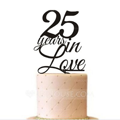 Letter Acrylic Anniversary Cake Topper (119070034)