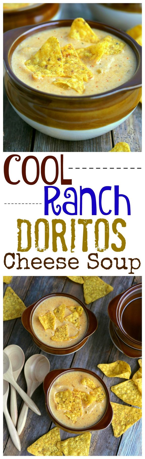 Cool Ranch Doritos Cheese Soup is going to knock your socks off from NoblePig.com.