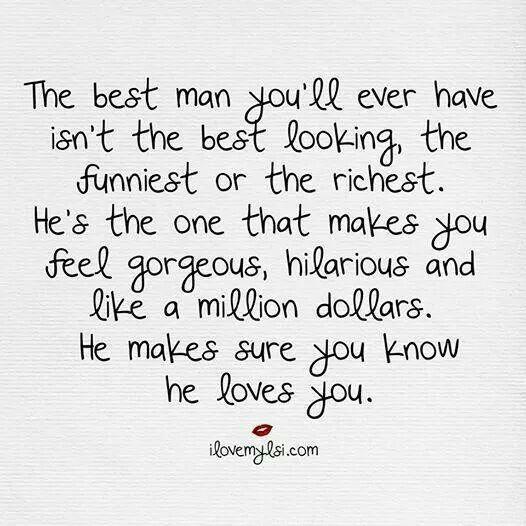 The best man. ..