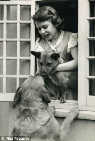 QUEEN ELIZABETH II AS A YOUNG GIRL PLAYING WITH HER DOGS #corgi                             Queen Elizabeth