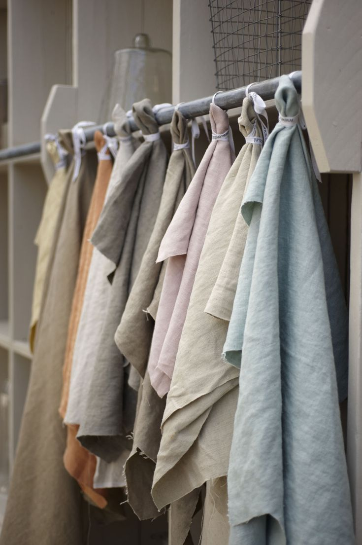 stonewashed linnen - 100 % linnen - linnen bekledingsstof - linnen poedertinten - meubelstof