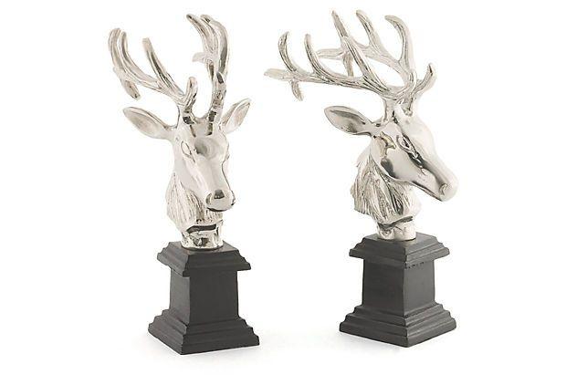 "12"" Hunt Bookends Set, Silver on OneKingsLane.com"