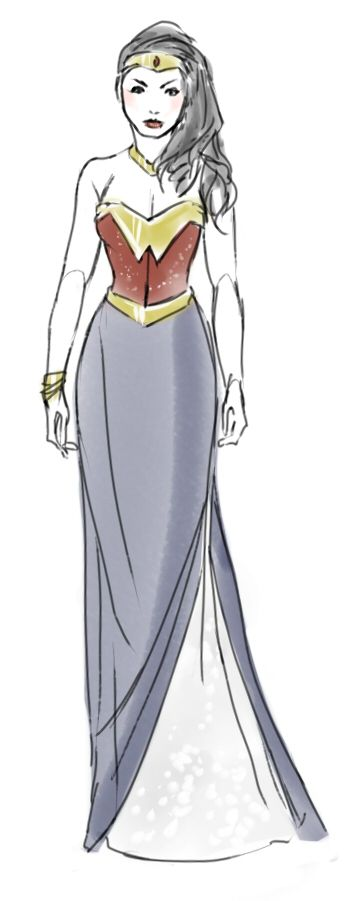 Wonder Woman Oscar Dress ~ Kaciart