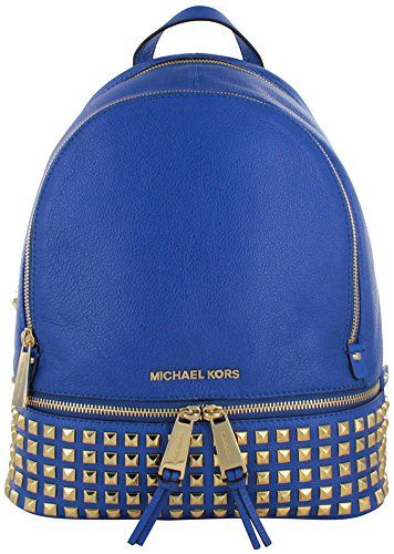 Michael Kors Rhea Women's Small Studded Backpack Bag Leather