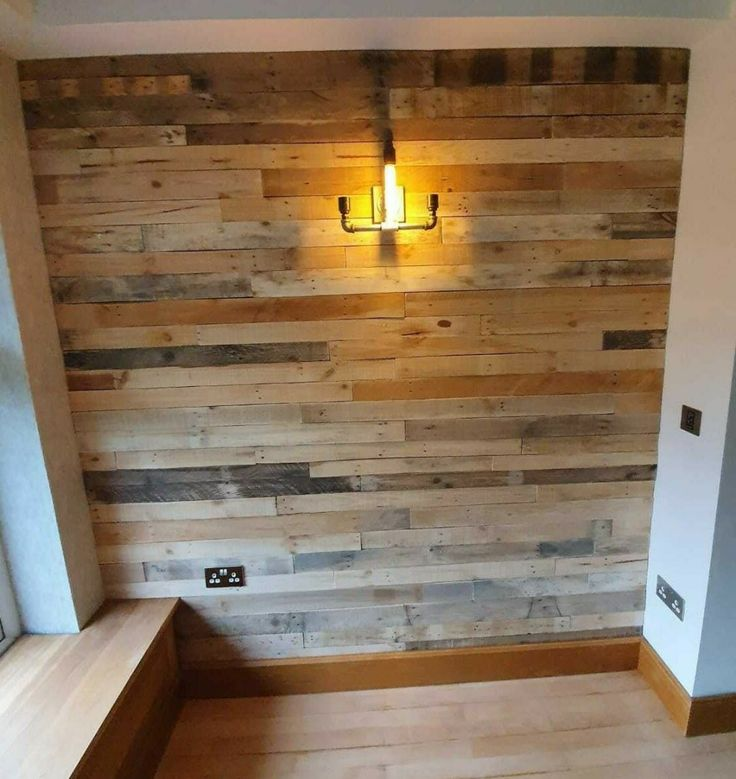 Details about Rustic Reclaimed Pallet Wood Wall Cladding ...