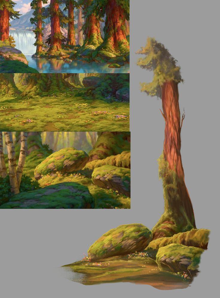 Disney background study by Roiuky