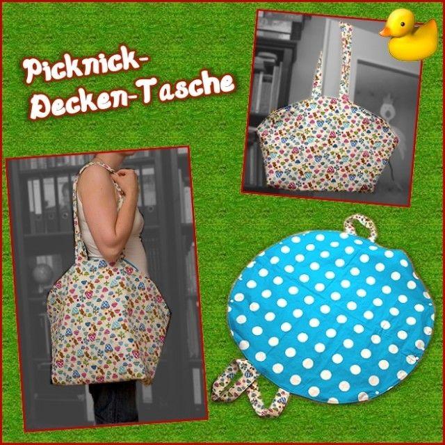 Picknickdecke(ntasche), Kreativ-Ebook als Geschenk - farbenmix Online-Shop - Schnittmuster, Anleitungen zum Nähen