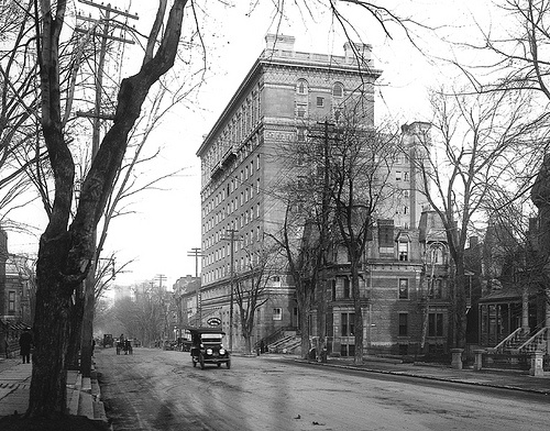 Sherbrooke Street, looking east from Mountain Street, Montreal, QC, about 1915 by Musée McCord Museum, via Flickr