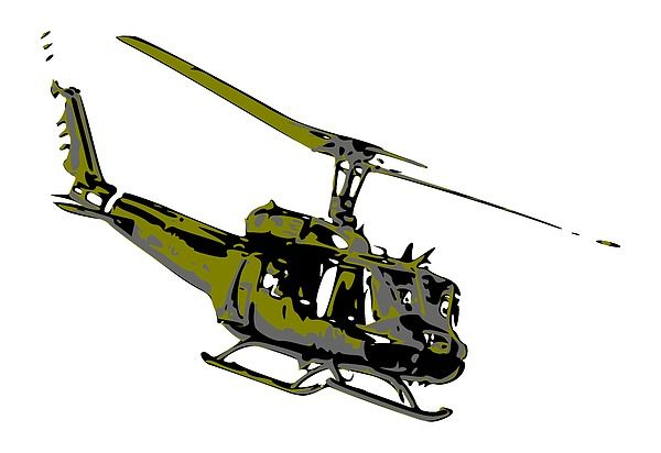 Huey - the most famous helicopters in aviation history #military #helicopter #aircraft #wallart