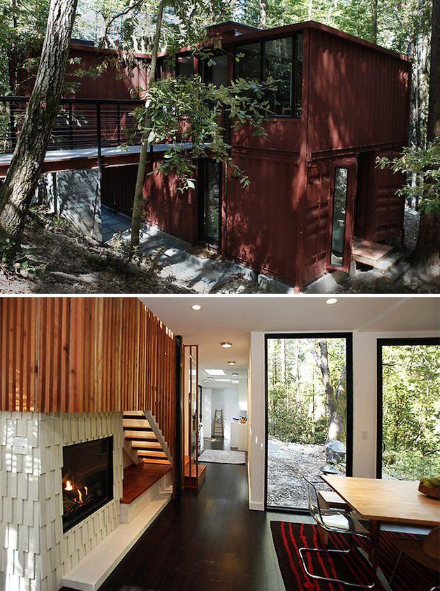 """""""Six Oaks """"por David Fenster. Casa de 110 m2 construída a base de contenedores, en California"""