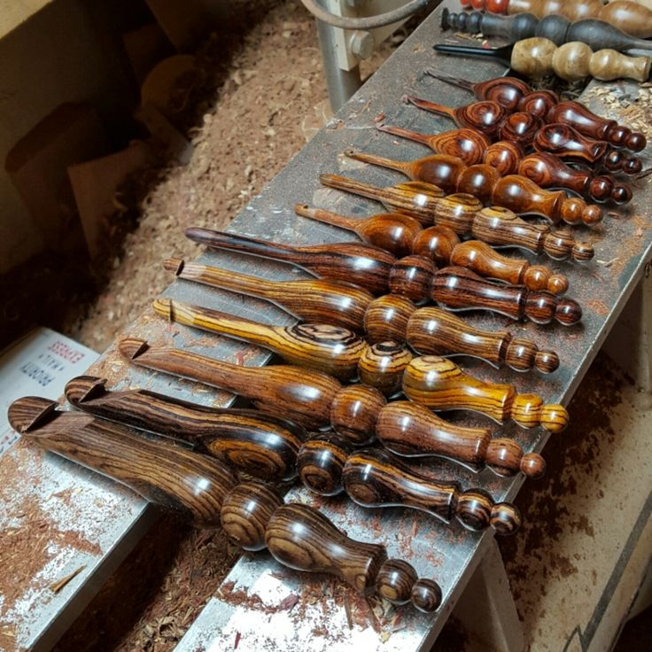 Working on a complete set of Cocobolo Crochet Hooks E - S