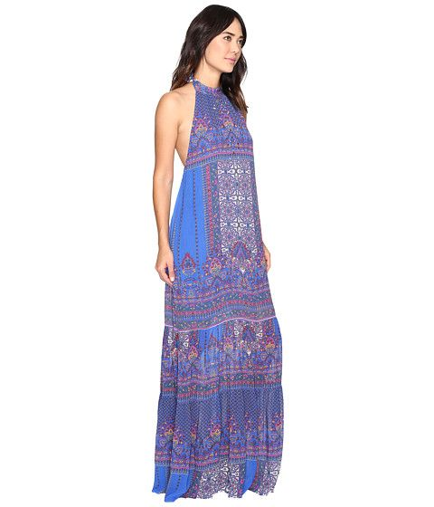 Nicole Miller La Plage by Nicole Miller Beach Carousel Halter Maxi Dress Cover-Up