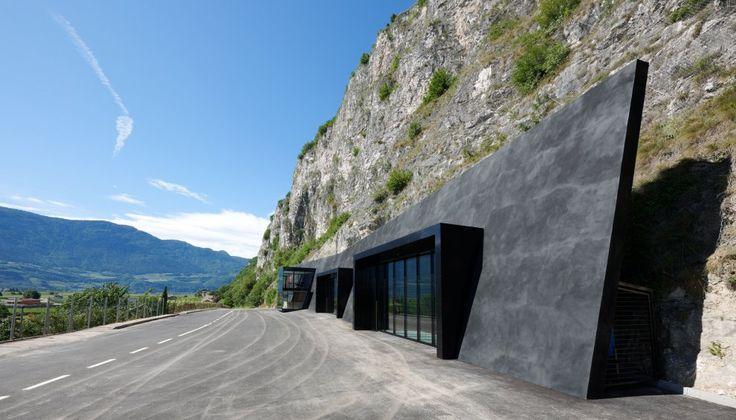 In the Rock - Fire Brigade Magreid Margreid, Italy A project by: bergmeisterwolf architekten Architecture