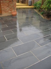 Black Brazilian Slate Paving Patio Garden Slabs Tiles
