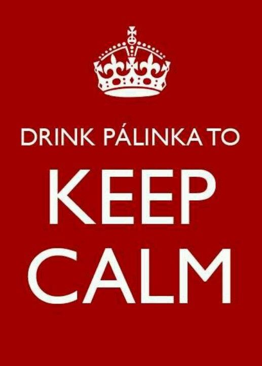 Drink Pálinka to Keep calm:)
