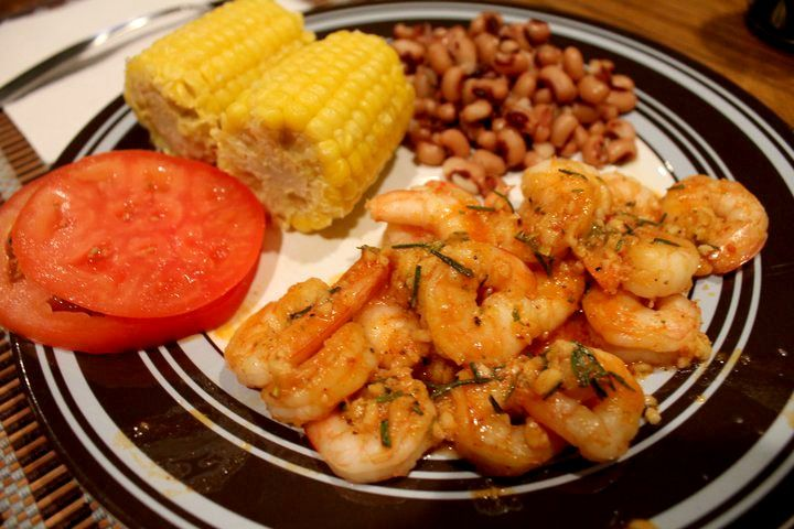 Easy BBQ shrimp - One of my favorite shrimp recipes!  It's SO GOOD!  Takes less than 30 minutes to make and is actually a Weight Watchers recipe!