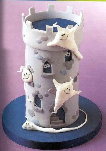 tutorial  cake dia das bruxas fantasmas