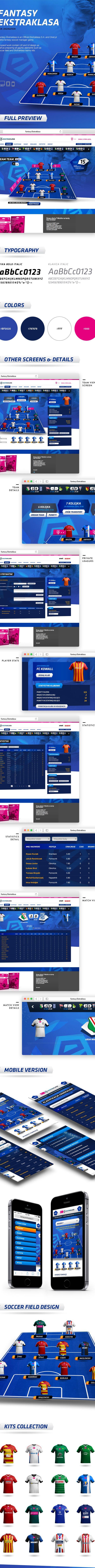 Fantasy Soccer - T-Mobile Ekstraklasa on Behance