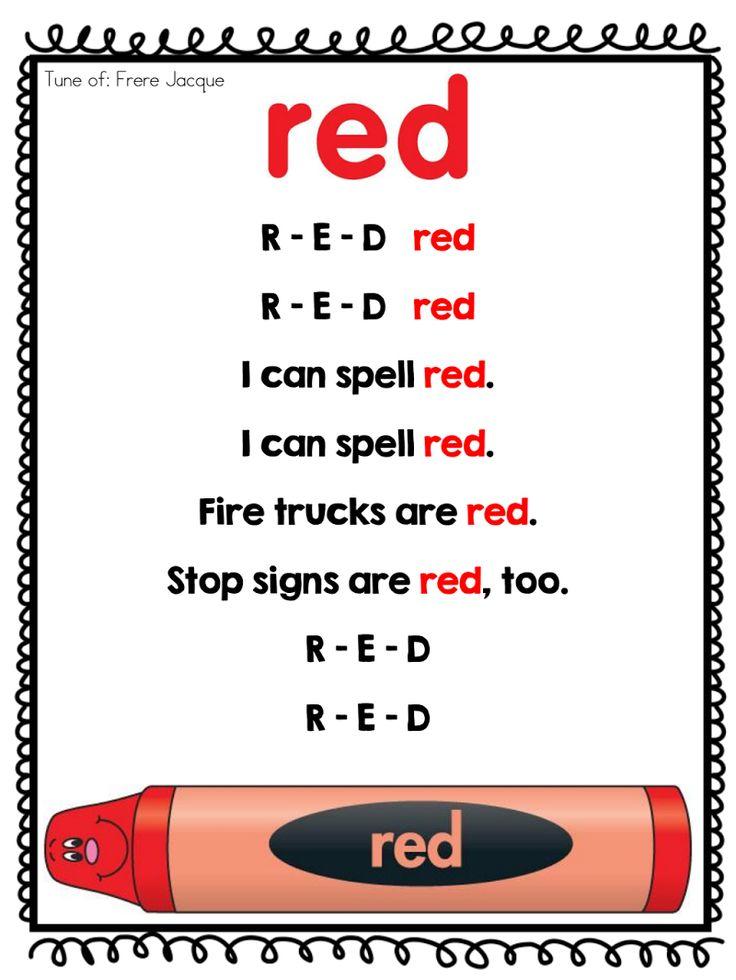 Color Poems.pdf Classroom Ideas Color songs preschool