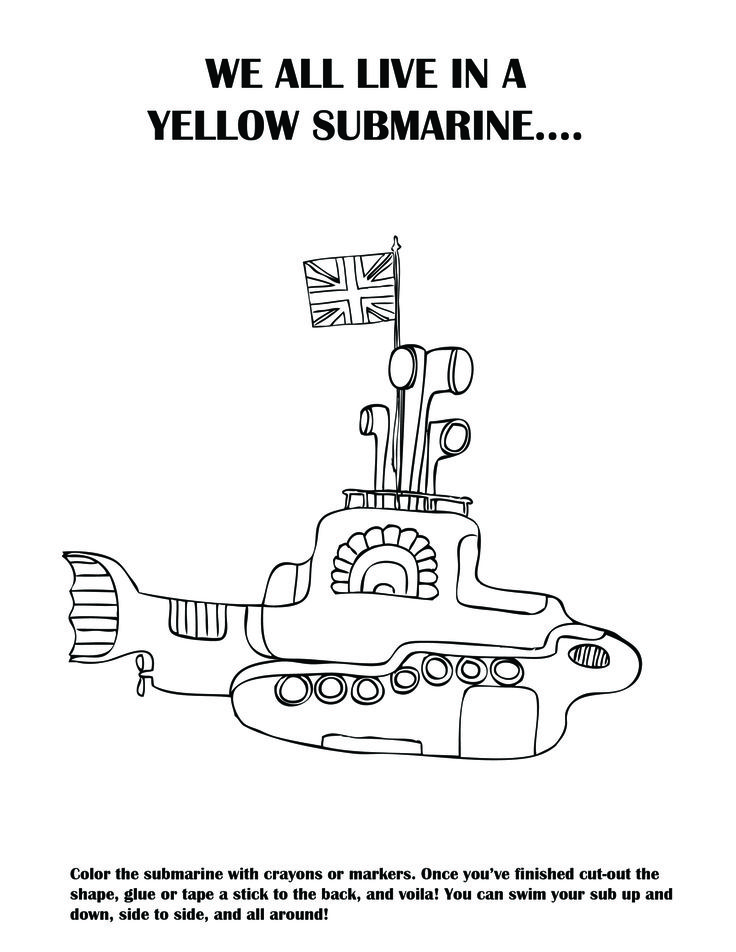 DIY a yellow submarine! I made this activity sheet for my nephew's Beatles Birthday party this weekend.