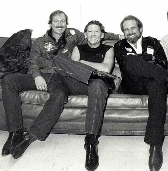 James Burton, Jerry Lee Lewis and Duane Eddy in 1983