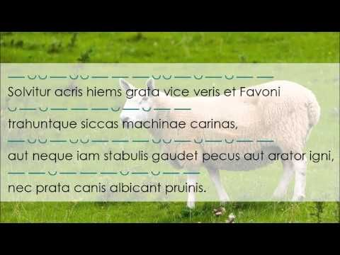 Solvitur acris hiems - Horace Car. 1.4 - YouTube