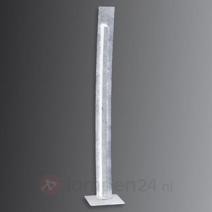 Moderne LED staande lamp Nevis in bladzilver look veilig & makkelijk online bestellen op lampen24.nl