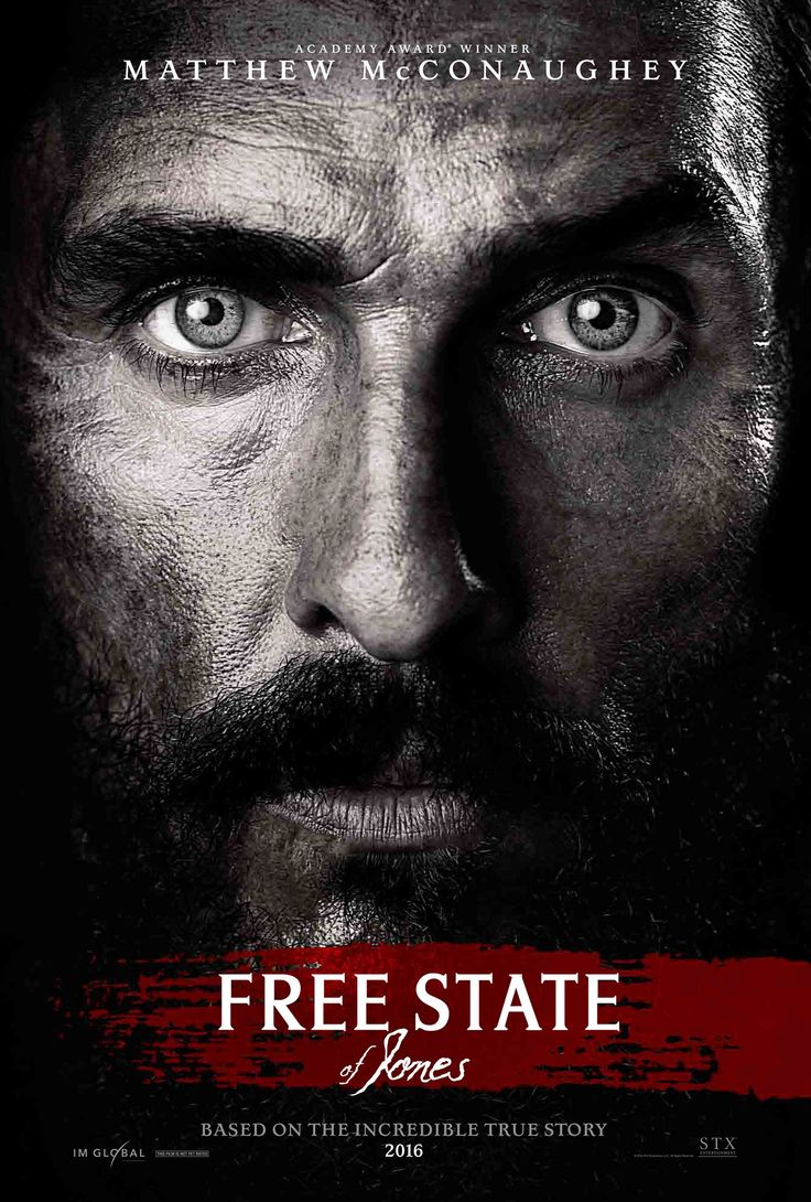 #FreeState #FilmFetish New film trailer, poster & photos from Matthew McConaughey action epic Free State of Jones-Written and directed by four-time Oscar nominee Gary Ross (The Hunger Games, Seabiscuit, Pleasantville), and starring Oscar winner Matthew McConaughey,