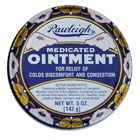 Medicated Ointment (8 oz) in this metal can $11.95 and last forever!!! great for stuffy noses, chest colds, chapped hands, aching joints, hands etc... just rub in and let this time tested formula work its healing... safe for little kids too unlike the 'V' which is pretty stinging. http://www.rawleigh-products.com