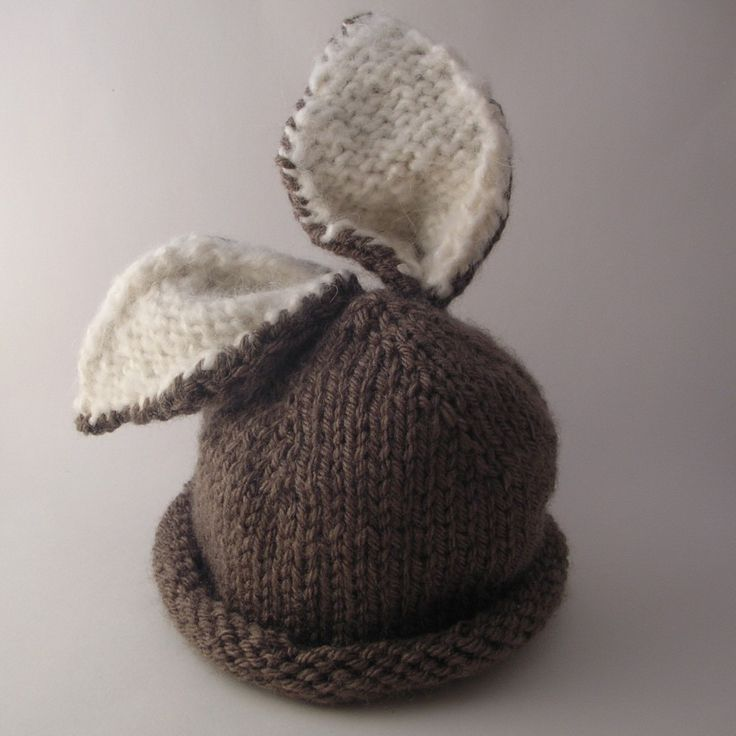 baby bunny hat, free pattern, how to knit, diy hat
