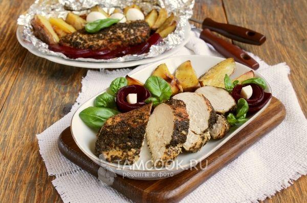 Куриное филе в фольге в духовке — рецепт с фото | Еда ...