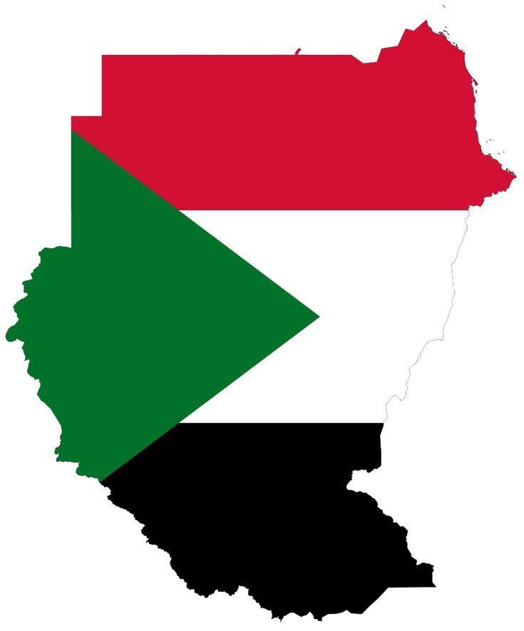 Flag Map of Sudan large map