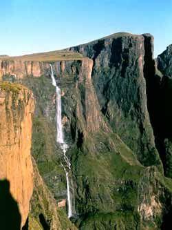 Tugela Falls.  Source of the Tugela River