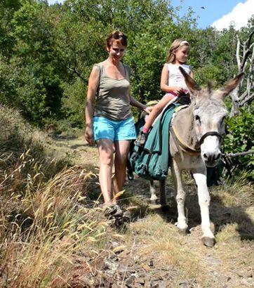 #Randonnee avec un âne