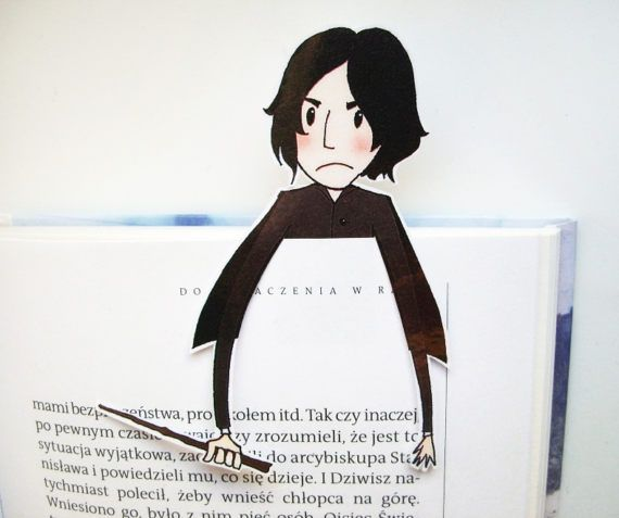 Severus Snape (Harry Potter books) printable bookmark - you will get a digital file for printing bookmark, 300 dpi high resolution, jpg and pdf format. Instant download, ready for printing on ink or laser jet printer. ITS EASY! 1. You can print it on thick paper or on normal paper (and matt laminate on both sides for durability). 2. Cut out two elements of bookmark. 3. Put them together by glue or double-sided tape. 4. Ready to use! Terms of use: These images are for personal use. You may…