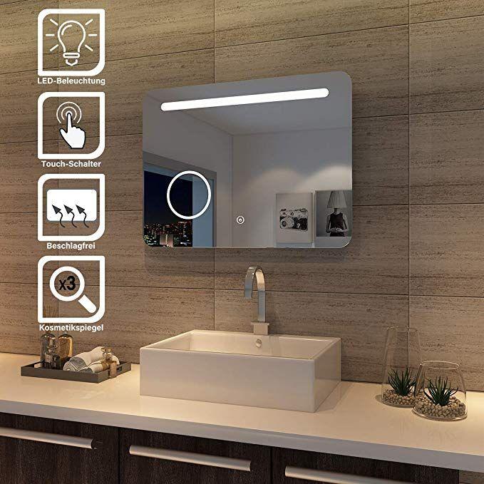 Sonni Led Bad Spiegel 80 X 60cm Wandspiegel Badezimmer