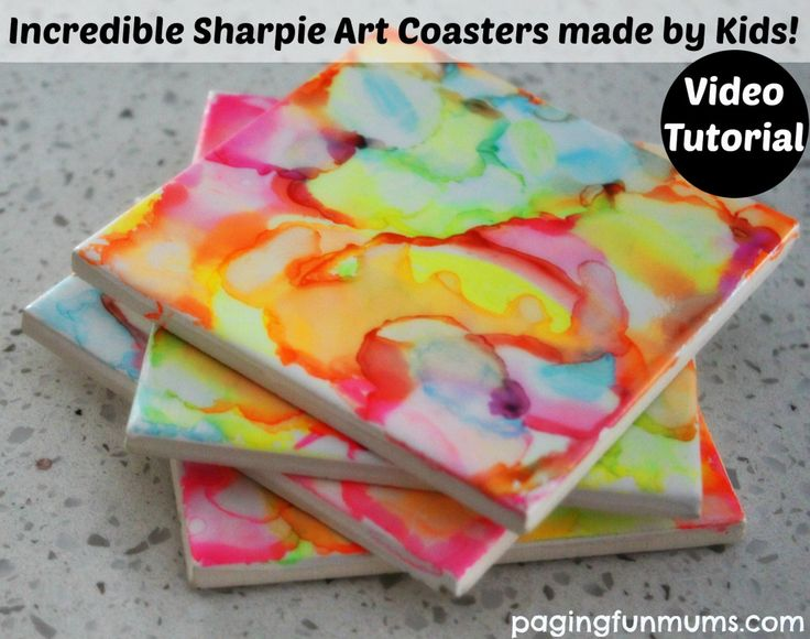 Incredible Sharpie Art Coasters Made by Kids :http://pagingfunmums.com/2015/06/18/incredible-sharpie-art-coasters-made-by-kids/