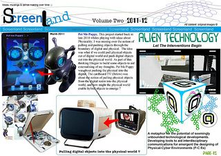 Screenlander vol two page 12. | by Screenlander robot hack, cardboard TV, Alien Technology : by SF