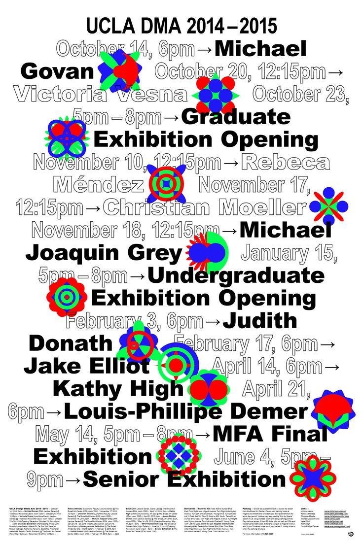 UCLA Design Media Arts Lecture Series 2014 & 2015