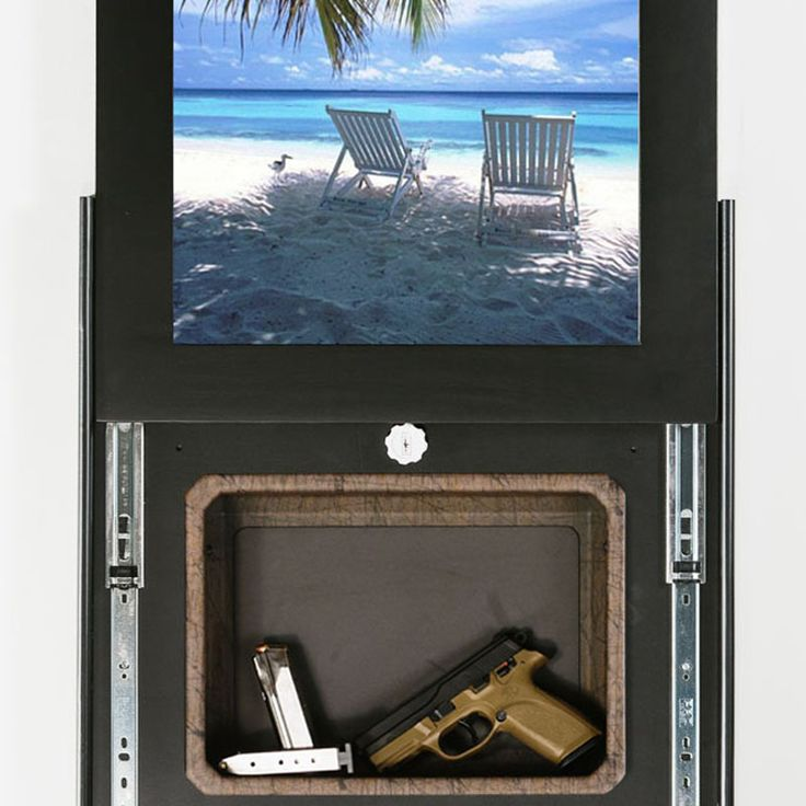 Hidden gun storage behind a picture | Tactical Walls