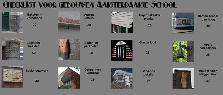 Checklist Amsterdamse Schoolgehalte         | Wendingen ~ Platform voor de Amsterdamse School