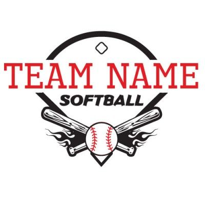 Softball Tshirt Design Clip Art 09912 by Download Vector