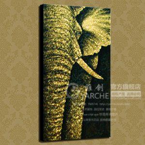 Купить Элегантность чисто ручная роспись маслом стиль живописи из Юго-Восточной Азии тайский золото и серебряный лист картины живопись абстрактный слон панно декор дома из категории Картина на Kupinatao.com