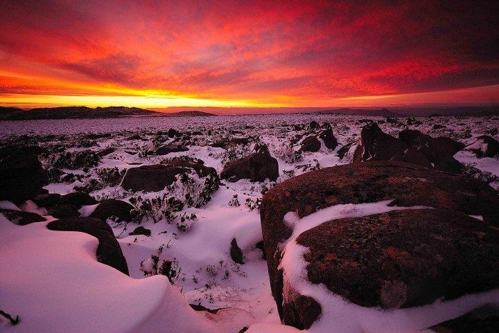 Mt Wellington sunset, Tasmania