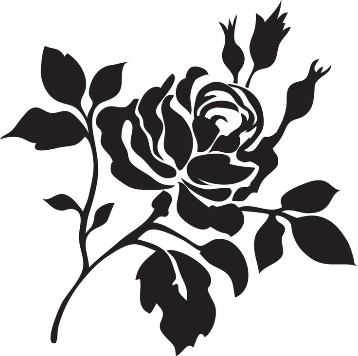 25 Best Rose Stencil Ideas On Pinterest Stencils Rose